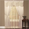 Achim Halley 6 Piece Window Curtain Set - 56x63 - Ivory
