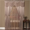 Achim Halley 6 Piece Window Curtain Set - 56x84 - Mauve