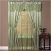 Achim Halley 6 Piece Window Curtain Set - 56x63 - Sage