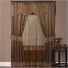 Achim Halley 6 Piece Window Curtain Set - 56x84 - Taupe