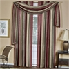 Ombre Window Curtain Scarf 50x144 - Burgundy