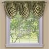 Achim Ombre Waterfall Valance - Sage