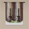 Achim Ombre Window Curtain Tie Up Shade 50x63 - Chocolate