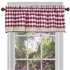 Achim Buffalo Check Window Curtain Valance - 58x14 - Burgundy