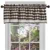 Achim Buffalo Check Window Curtain Valance - 58x14 - Chocolate