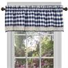 Achim Buffalo Check Window Curtain Valance - 58x14 - Navy