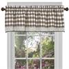 Achim Buffalo Check Window Curtain Valance - 58x14 - Taupe