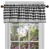 Buffalo Check Window Curtain Valance - 58x14 - Black