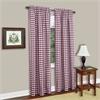 Buffalo Check Window Curtain Panel - 42x84 - Burgundy