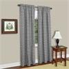 Achim Buffalo Check Window Curtain Panel - 42x84 - Black