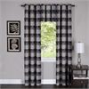 Achim Harvard - Window Curtain Panel w/6 Grommets - 42x63 Black