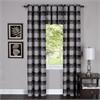 Achim Harvard - Window Curtain Panel w/6 Grommets - 42x84 Black