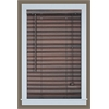 "Luna 2"" Vinyl Venetian Blind with 2 in. Valance 33x64 - Mahogany"