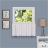 Achim Camden 58x24 Window Curtain Tier Pair  - Blue