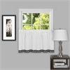 Achim Camden 58x24 Window Curtain Tier Pair  - Black