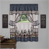 Achim Chateau Cottage Window Curtain Set - 57x36 - Navy