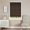 "Achim Cordless Madera Falsa 2"" Faux Wood Plantation Blind 30x64 - Mahogany"