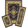 Capri 3 Piece Rug Set - Royal Crown - Navy