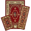 Achim Capri 3 Piece Rug Set - Savonnerie Red