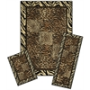 Achim Capri 3 Piece Rug Set - Safari