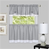 Darcy Window Curtain Tier and Valance Set 58x24/58x14 - Grey/White