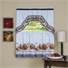 Golden Delicious - Printed Tier & Swag Window Curtain Set - 57x24 - Ice Blue