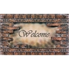 Welcome Bricks Outdoor Rubber Entrance Mat 18 in. x 30 in.