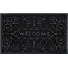 Welcome Mat 18x30 Wrought Iron - Black