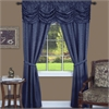 Achim Panache 5 Piece Window Curtain Set - 55x63 - Navy
