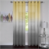 Achim Rainbow - Single Grommet Window Curtain Panel - 52x63 Grey