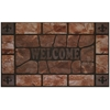 Achim Raised Rubber Mat Clay Stone 18x30