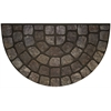 Achim Raised Rubber Mat Grey Stone Slice 18x30