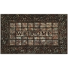 Raised Rubber Mat Paver Scroll 18x30