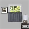 Achim Sydney 58x24 Window Curtain Tier Pair  - Grey