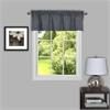 Achim Sydney 58x14 Window Curtain Valance - Grey