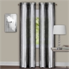 Sombre Window Curtain Panel Pair 40x63 - Black / White