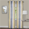 Achim Sombre Window Curtain Panel Pair 40x84 - Grey / Yellow