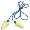 3M E·A·R Push-Ins Grip-Ring Earplugs, Corded, 30NRR, Yellow/Blue