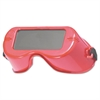 JACKSON SAFETY WR-60 Cutting Goggles, Red Frame, Shade 5.0 Lens