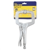 "Original Locking C-Clamp Swivel-Pad Pliers, 11"" Tool Length, 4"" Jaw Capacity"