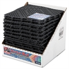 San Jamar Versa-Mat Bar-Shelf Liner, Plastic, 12w x 12d x 1/4h, Black, 27/Carton