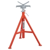 "RIDGID V Head Pipe Stand, Up to 12"" Pipe Capacity, Red"