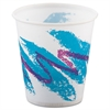 SOLO Cup Company Jazz Waxed Paper Cold Cups, 3oz, Rolled Rim, 100/Bag, 50 Bags/Carton