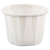 Paper Portion Cups, .5oz, White, 250/Bag, 20 Bags/Carton