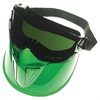 JACKSON SAFETY V90 Series Face Shield, Black Frame, Dark Green Lens, Anti-Fog