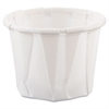 SOLO Cup Company Paper Portion Cups, .75oz, White, 250/Bag, 20 Bags/Carton