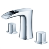 Fortore Widespread Mount Bathroom Vanity Faucet - Chrome