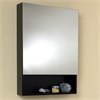 Small Espresso Bathroom Medicine Cabinet w/ Small Bottom Shelf