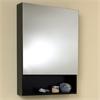Small Espresso Bathroom Medicine Cabinet w/ Small Bottom Shelf