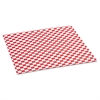 Bagcraft Grease-Resistant Paper Wrap/Liners, 12 x 12, Red Check, 1000/Box, 5 Boxes/Carton